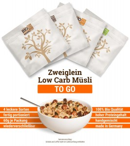 Bio Protein Low Carb Müsli To-Go Paket